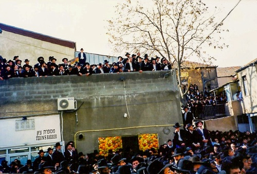 Partial view of the crowd at the levaya 3
